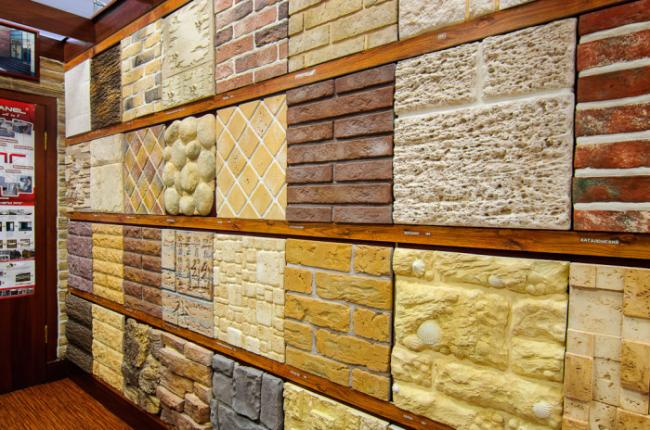 Плитка из гипса на стену